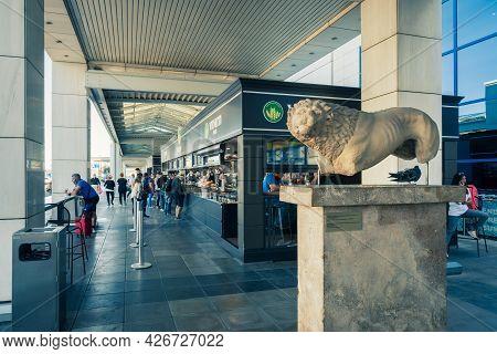 Athens, Greece - October 1, 2020: Athens International Airport, Greece