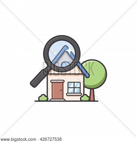 Home House Finder In Soft Rounded Cute Illustration Style