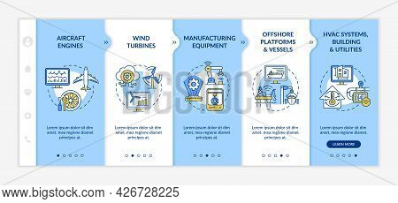 Digital Twin Application By Industry Onboarding Vector Template. Responsive Mobile Website With Icon