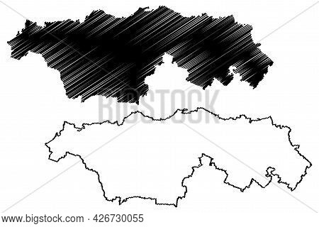 Kyffhauserkreis District (federal Republic Of Germany, Rural District, Free State Of Thuringia) Map