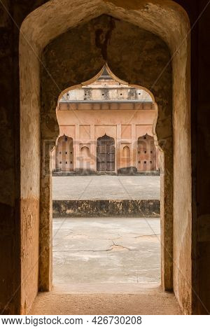 Old Gate To The Courtyard Of The Fort In Orchha, India