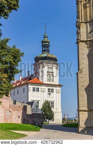 White Tower Of The Jesuit College Building In  Kutna Hora, Czech Republic