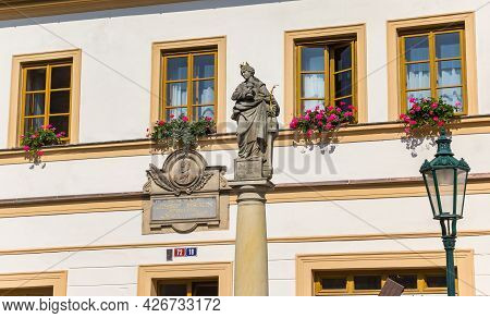 Kutna Hora, Czech Republic - September 14, 2020: House Of The Writer Josef Braun In Kutna Hora, Czec