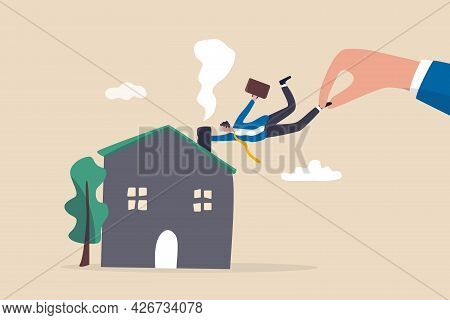 Company Request Employee Back To Work In The Office In Post Pandemic, Stop Work From Home Concept, B