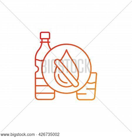Drinking Water Shortage Gradient Linear Vector Icon. Contaminated Natural Source. Unimproved Sanitat