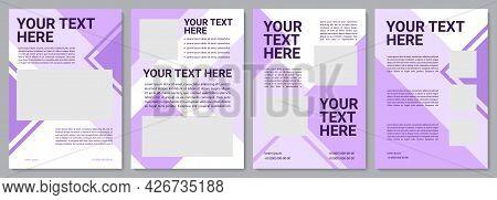 Purple Creative Brochure Template. Service Instruction. Flyer, Booklet, Leaflet Print, Cover Design