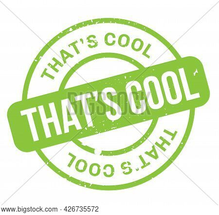 That Is Cool Isolated On White Sign, Badge, Stamp