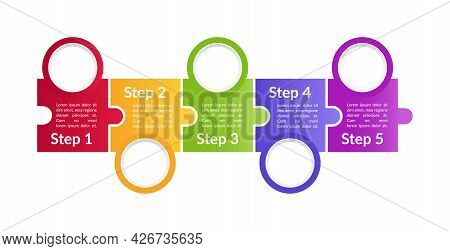 Multicolor Promotional Vector Infographic Template. Product Use Presentation Design Elements With Te