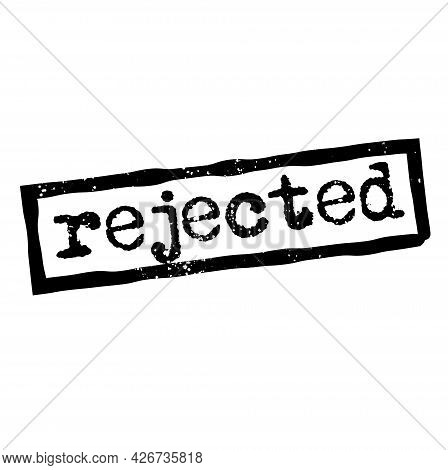 Rejected Isolated On White Sign, Badge, Stamp