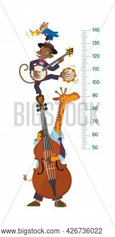 Jazz Band With Animals. Meter Wall Or Height Chart