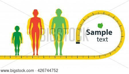 Weight Loss Concept. The Influence Of Diet On The Weight Of The Person. Man And Woman Before And Aft