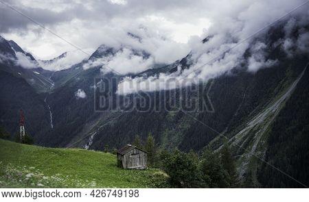 Austrian Alps. Mountain Landscape. Austrian Village Life In South Tyrol.