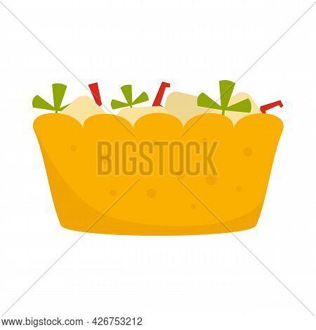 Fruit Salad Icon. Flat Illustration Of Fruit Salad Vector Icon Isolated On White Background