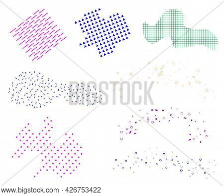 Abstract Liquid Design Elements For Modern Poster.
