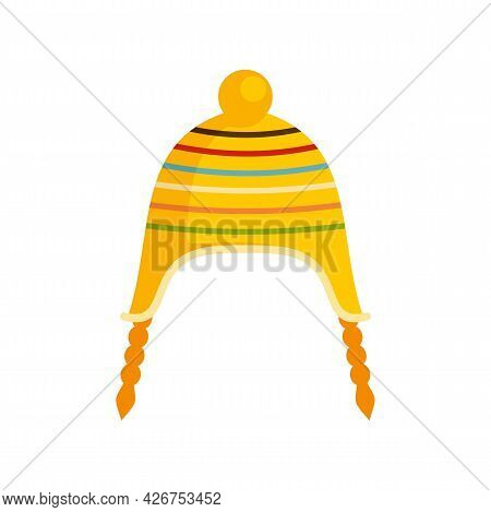 Peru Hat Icon. Flat Illustration Of Peru Hat Vector Icon Isolated On White Background