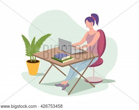 Backend Or Frontend Developer Coding And Chatting By Laptop. Concept Of Script Coding And Programmin