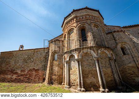 Apse Of The Church Of Santa Fosca (ix-xii Century) In Torcello Island In Venetian-byzantine Style, P