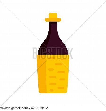Peru Wine Bottle Icon. Flat Illustration Of Peru Wine Bottle Vector Icon Isolated On White Backgroun