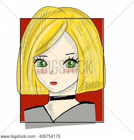 Manga Style. Japanese Cartoon Comic Concept. Anime Characters. Hand Drawn Trendy. Vector Design For