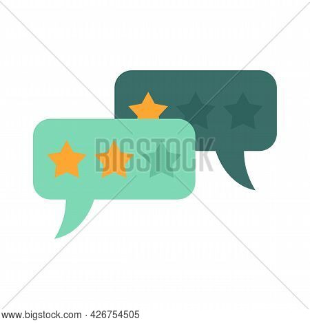Feedback Chat Icon. Flat Illustration Of Feedback Chat Vector Icon Isolated On White Background