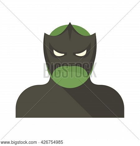 Figure Superhero Icon. Flat Illustration Of Figure Superhero Vector Icon Isolated On White Backgroun