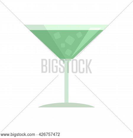 Margarita Cocktail Icon. Flat Illustration Of Margarita Cocktail Vector Icon Isolated On White Backg