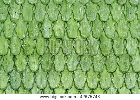 Green wooden shingles