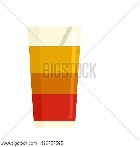 Fresh Cocktail Icon. Flat Illustration Of Fresh Cocktail Vector Icon Isolated On White Background