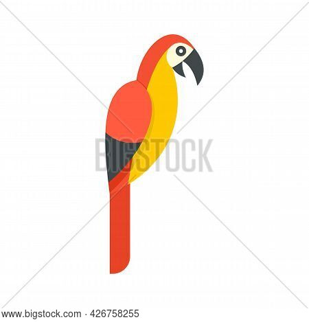 Parrot Icon. Flat Illustration Of Parrot Vector Icon Isolated On White Background