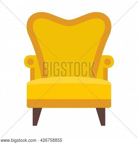 Luxury Armchair Icon. Flat Illustration Of Luxury Armchair Vector Icon Isolated On White Background