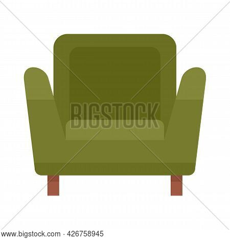Soft Armchair Icon. Flat Illustration Of Soft Armchair Vector Icon Isolated On White Background