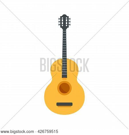 Mexican Traditional Guitar Icon. Flat Illustration Of Mexican Traditional Guitar Vector Icon Isolate