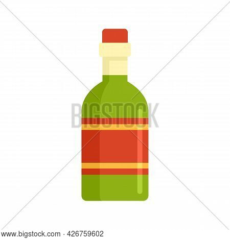 Tequila Drink Bottle Icon. Flat Illustration Of Tequila Drink Bottle Vector Icon Isolated On White B
