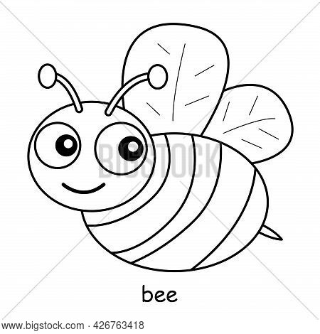Children Coloring On The Theme Of Animal Vector, Bee