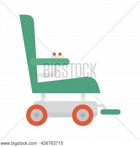 Wheelchair Icon. Flat Illustration Of Wheelchair Vector Icon Isolated On White Background