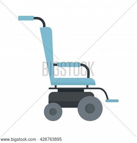 Scooter Wheelchair Icon. Flat Illustration Of Scooter Wheelchair Vector Icon Isolated On White Backg