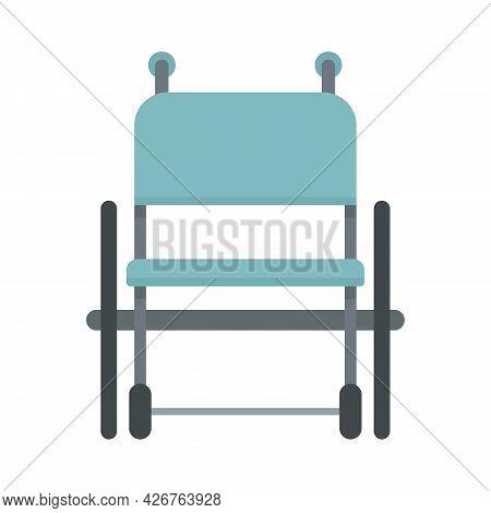 Empty Wheelchair Icon. Flat Illustration Of Empty Wheelchair Vector Icon Isolated On White Backgroun