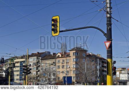 Urban, Infrastructure, Intersection, Traffic Light, Light, Traffic, System, Crossroad, Fragment, Wea