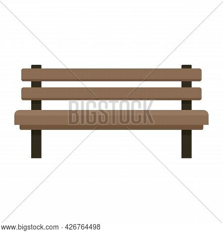 Settle Bench Icon. Flat Illustration Of Settle Bench Vector Icon Isolated On White Background