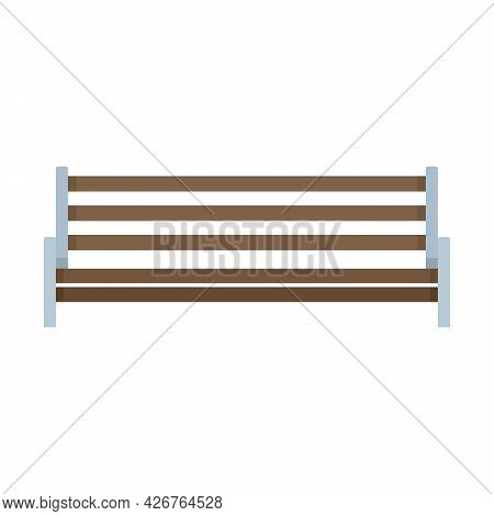 Bin Bench Icon. Flat Illustration Of Bin Bench Vector Icon Isolated On White Background