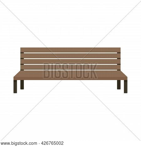City Bench Icon. Flat Illustration Of City Bench Vector Icon Isolated On White Background