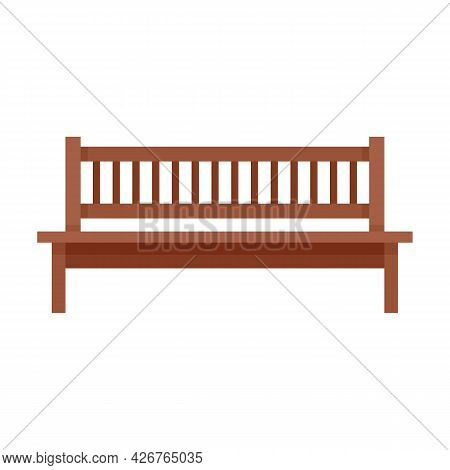 Garden Bench Icon. Flat Illustration Of Garden Bench Vector Icon Isolated On White Background