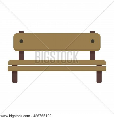 Seat Bench Icon. Flat Illustration Of Seat Bench Vector Icon Isolated On White Background