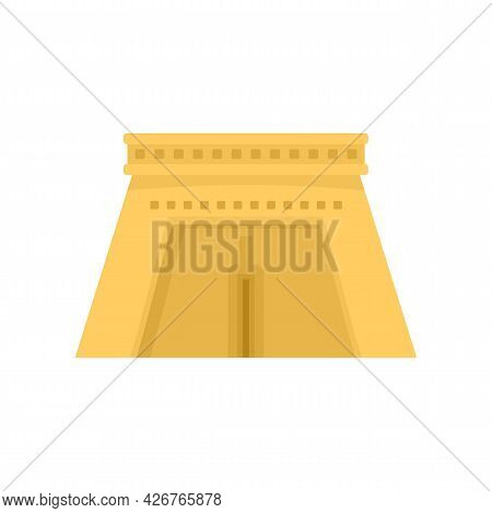 Egypt Temple Icon. Flat Illustration Of Egypt Temple Vector Icon Isolated On White Background