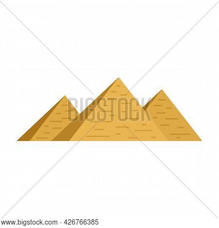 Egypt Pyramids Icon. Flat Illustration Of Egypt Pyramids Vector Icon Isolated On White Background