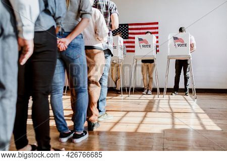 American at a polling booth