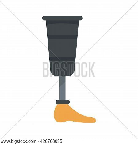 Leg Artificial Limb Icon. Flat Illustration Of Leg Artificial Limb Vector Icon Isolated On White Bac