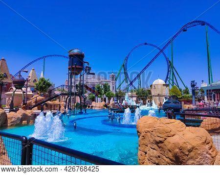 Belek, Antalya, Turkey - May 15, 2021: The Land Of Legends Theme Park In Belek. Watermania Adventure