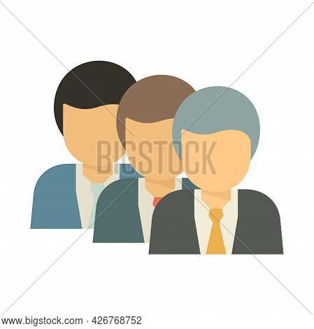 Recruit Office Worker Icon. Flat Illustration Of Recruit Office Worker Vector Icon Isolated On White