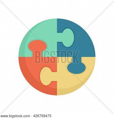 Puzzle Skills Icon. Flat Illustration Of Puzzle Skills Vector Icon Isolated On White Background